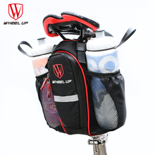 WHEEL UP 2 Pockets Nylon Bag With Lid MTB Road Bicycle Cycling Seatpost Saddle Seat Rear