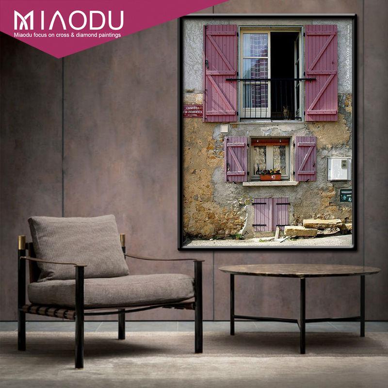 Miaodu Full Square Drill 5D DIY Diamond Painting Pink Mood Creative Retro Decoration Embroidery Cross Stitch Mosaic Home Decor 1