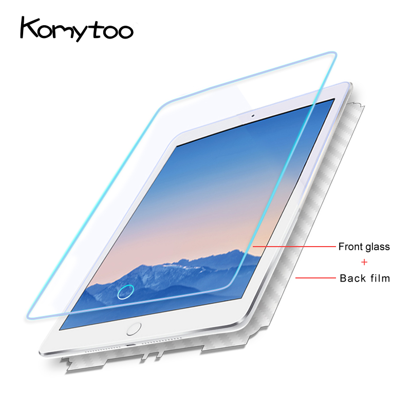 9H Tablet Tempered Glass For Apple New iPad 2017 Screen Protector For Apple 2018 New IPAD 2.5D Full Cover Tempered Glass Film tempered 2 5d glass protector full screen cover film for xiaomi mobile