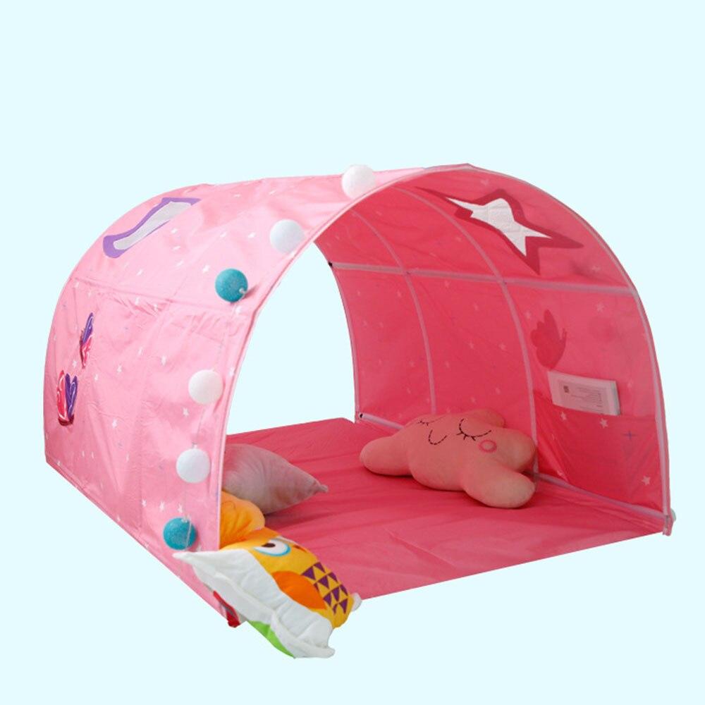 Tente de Tunnel multifonctionnelle pour lits jumeaux espace galaxie tente de lit pour enfants Tunnel garçons jeu maison jouets pour enfants enfants