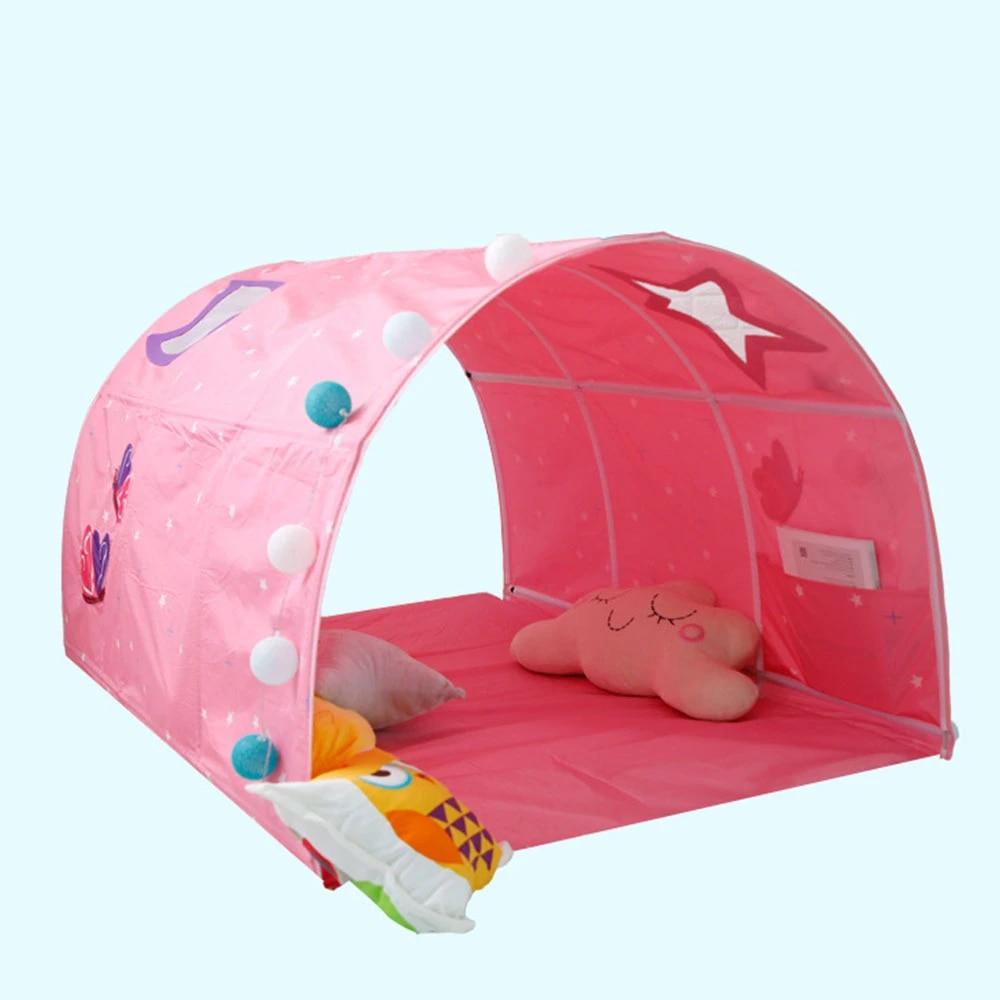 tente de tunnel multifonctionnelle pour lits jumeaux espace galaxie tente de lit pour enfants tunnel garcons jeu maison jouets pour enfants enfants