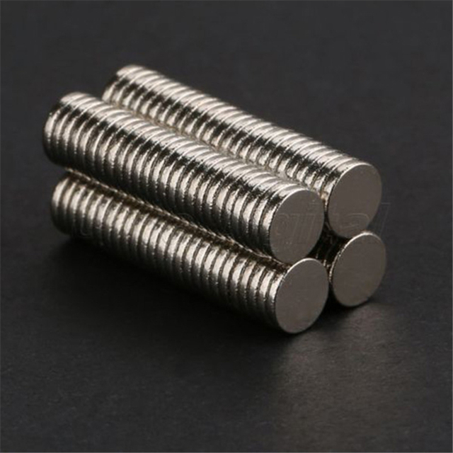 100 pcs 5mm x 1mm Disc Rare Earth Neodymium Magnetic Materials Super Strong Magnets N35 Craft Mode HH1 Strong Fridge Magnets