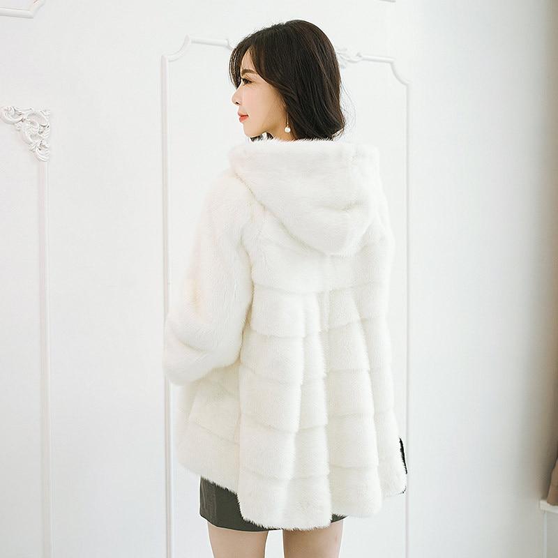 Chapeau Femelle De Fourrure Chaud Naturel Manteau Mode Rouge Section Ordinaire Blanc Fourrure Hiver Vison Veste drCHxqwr