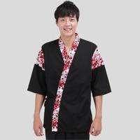Hot Men Japanese Korea Style Medium Sleeve Chef Cook Uniform Chef Waitress Work Wear Restaurant Cook