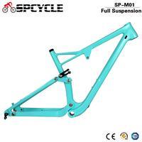 Spcycle 29er Full Suspension Carbon Frame  Carbon MTB Frame 29er Mountain Bike Carbon Frame 142*12mm Thru Axle 165*38mm Travel carbon frame 29er mtb carbon frame 29er mtb frame 29 -