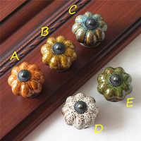 1pcs Pumpkin Knobs Ceramic Knobs Dresser Knob Drawer / Cabinet Handle Pulls / Colorful Kitchen Cupboard Knob Furniture Hardware
