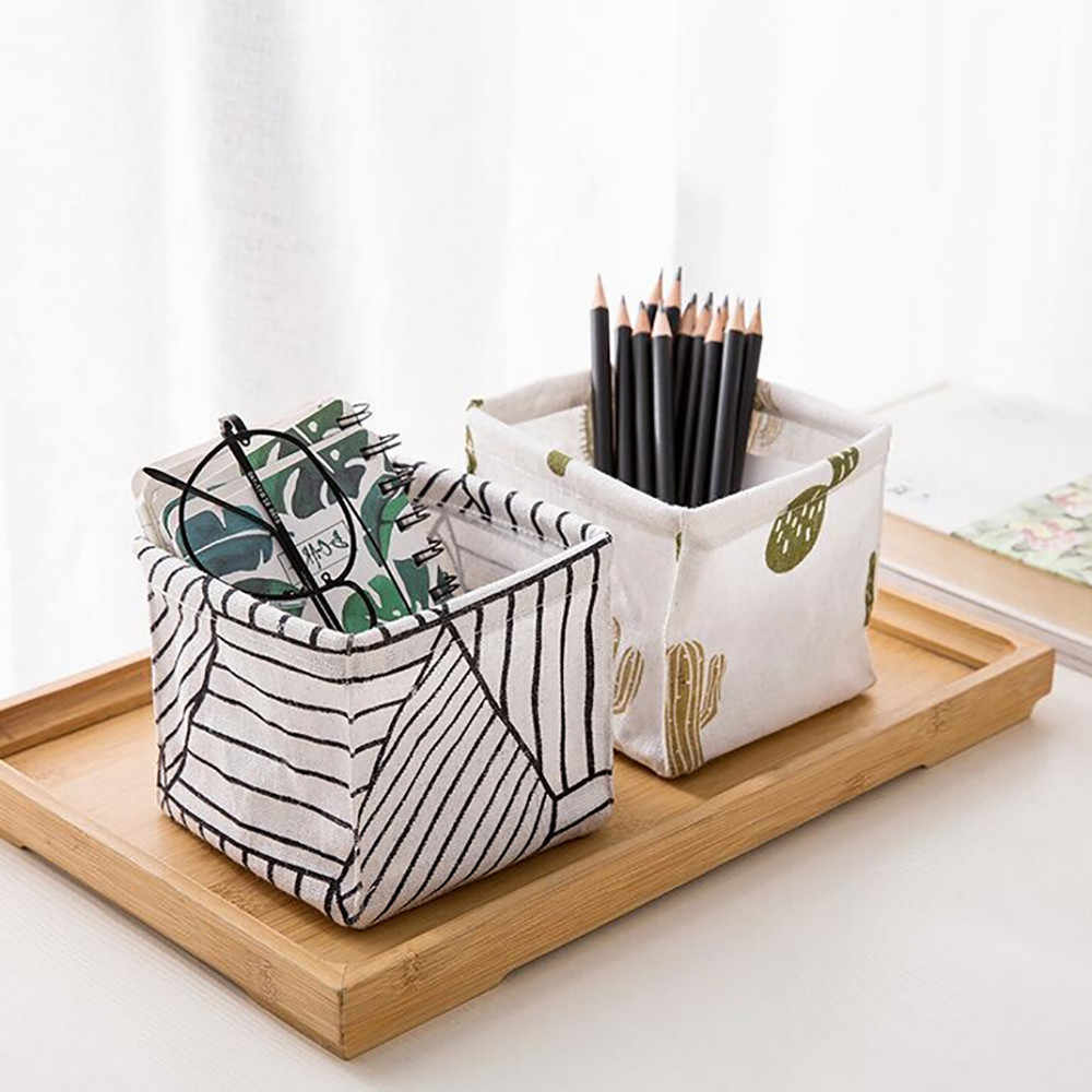 Storage Bin Closet Toy Box Container Organizer Fabric Basket Foldable Colors Storage Box Home Desktop Storage Basket