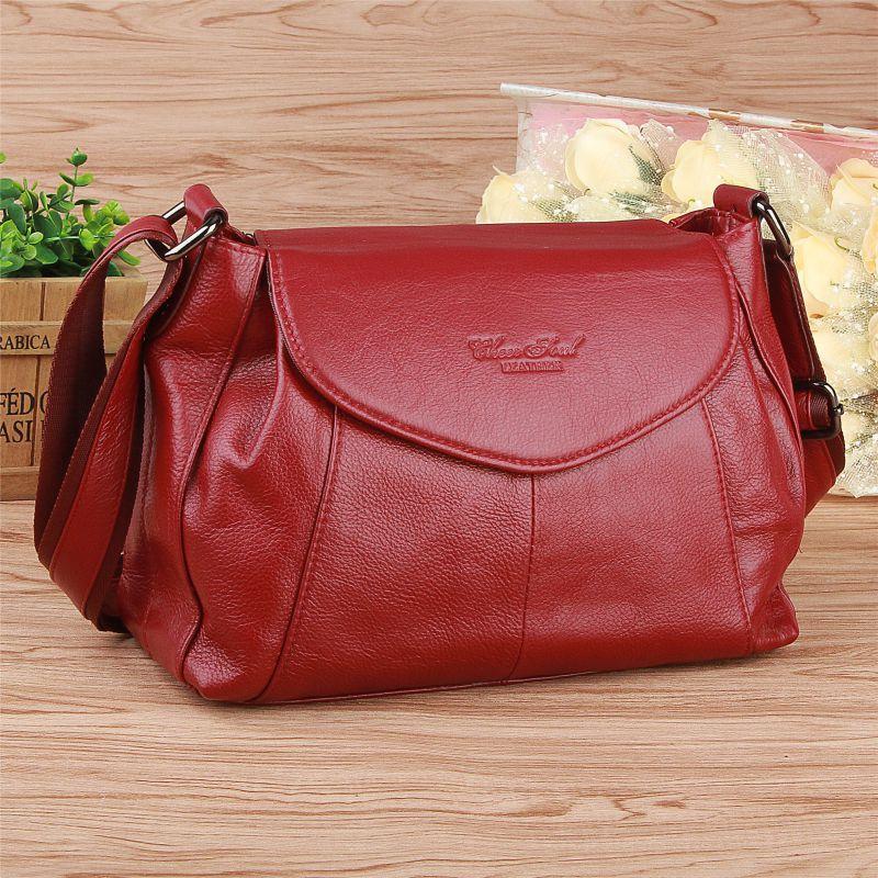цена на 100% Women Genuine Leather Bag Fashion Cow Leather Handbags Women Messenger Shoulder Bags Bolsas Feminina High Quality Phone Bag
