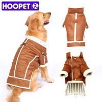 Big Dog Clothes Lamb Coat Thick Winter Warm Brown Two Feet Pet Product For Dogs Wholesale