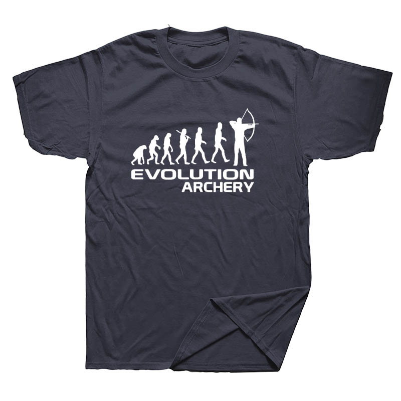 Evolution Of Archery Fathers Day Gift for Dad Funny Mens Keep Calm Shoot Arrows Archery T Shirt Funny Short Sleeves T-shirt