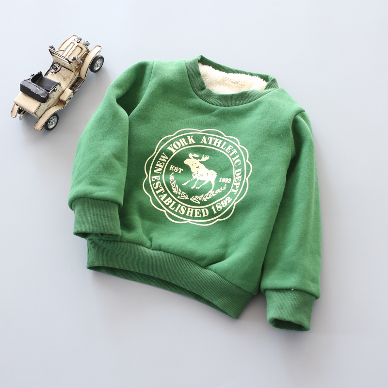 BibiCola Infant Boy Girls Sweater Clothes Toddler thick Sweatshirts baby Fawn pattern Casual Kids Plus velvet thick Tops Costume