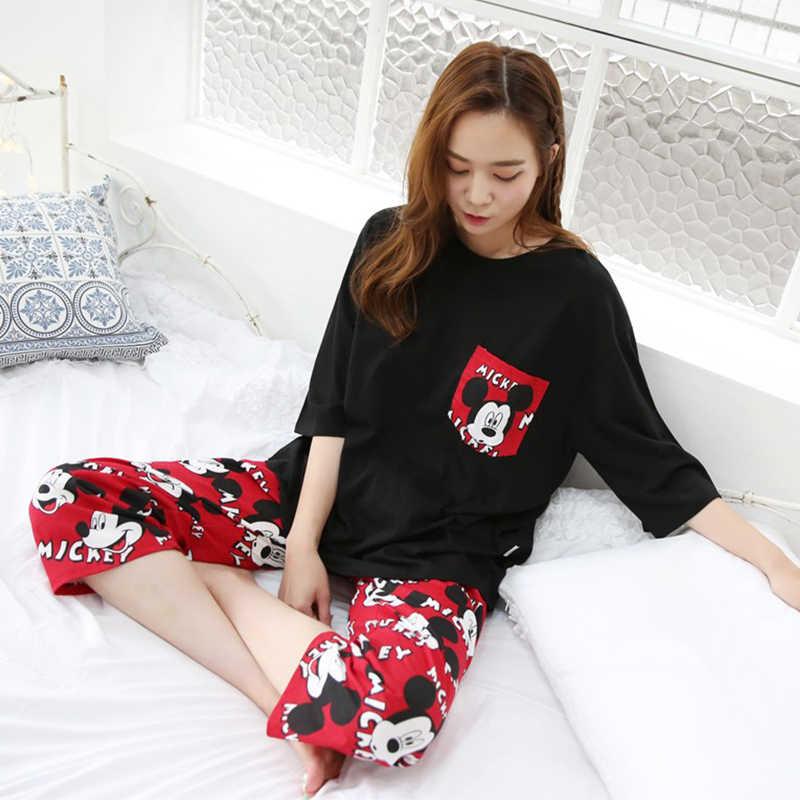 ... Модная женская Милая одежда для отдыха личность 2018 лето с короткими рукавами  женские пижамы для женщин 30332558f6022