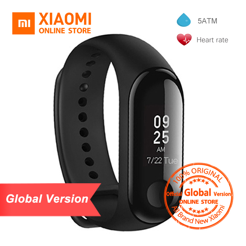 Global Version Xiaomi Mi Band 3 Smart Tracker Band 3 Xiaomi Band 3 Push Message Heart Rate Tracker Russian English Spanish Menu(China)
