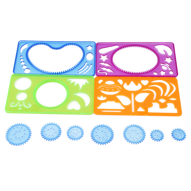 Flight Tracker 4pcs/pack Spirograph Geometric Ruler Learning Drawing Toy Student Stationery Drawing Set Creative Gift Drawing Toys Toys & Hobbies