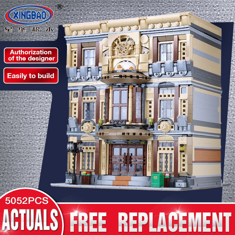 XingBao 01005 Genuine Creative MOC City Series The Maritime Museum Set legoing Building Block Bricks Toy Model Gift for Children
