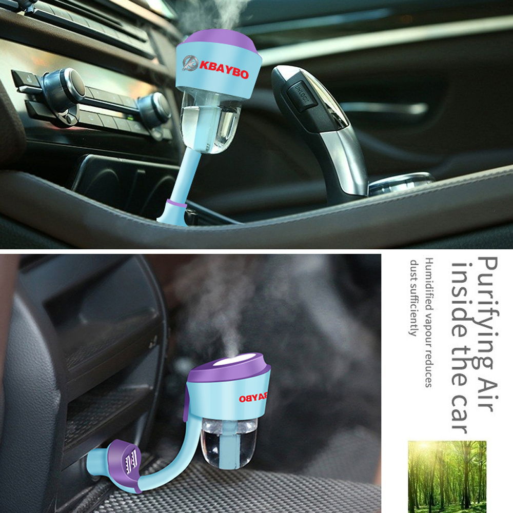 12V Car Mist Maker Upgraded Car Humidifier Air Purifier Aroma Diffuser Essential Oil Diffuser Fogger Car Air Vaporizer