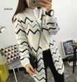 2016 Женский кардиган свитер Вязаный Хлопок O-образным Вырезом мода кардиганы женские свитера