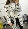 2016 Female cardigan sweater Knitted Cotton O-Neck fashion cardigans women  women sweaters