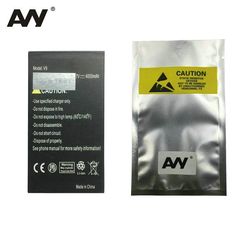 Avy 4000 mah bateria para guophone v9 pro discovery v9pro ip68 à prova dip68 água do telefone móvel li-ion baterias recarregáveis em estoque