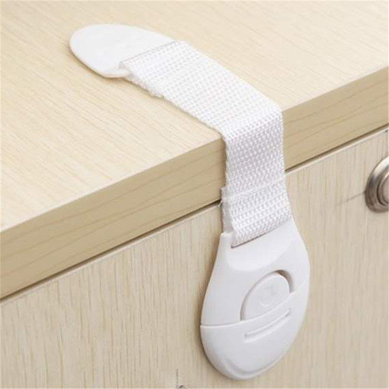 1pc Cabinet Door Drawers Refrigerator Toilet Lengthened Bendy Safety Plastic Locks For Child Kid Baby Safety