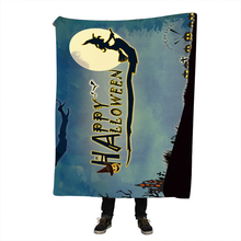 Halloween SunimaArt Throw Blanket Gothic Sherpa Fleece Dangerous Monster 150x200cm Thin Quilt battaniye