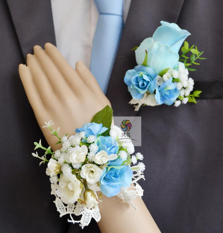 Wedding Flowers Corsage Ideas: Handmade Wedding Corsages Groom Boutonniere Bride