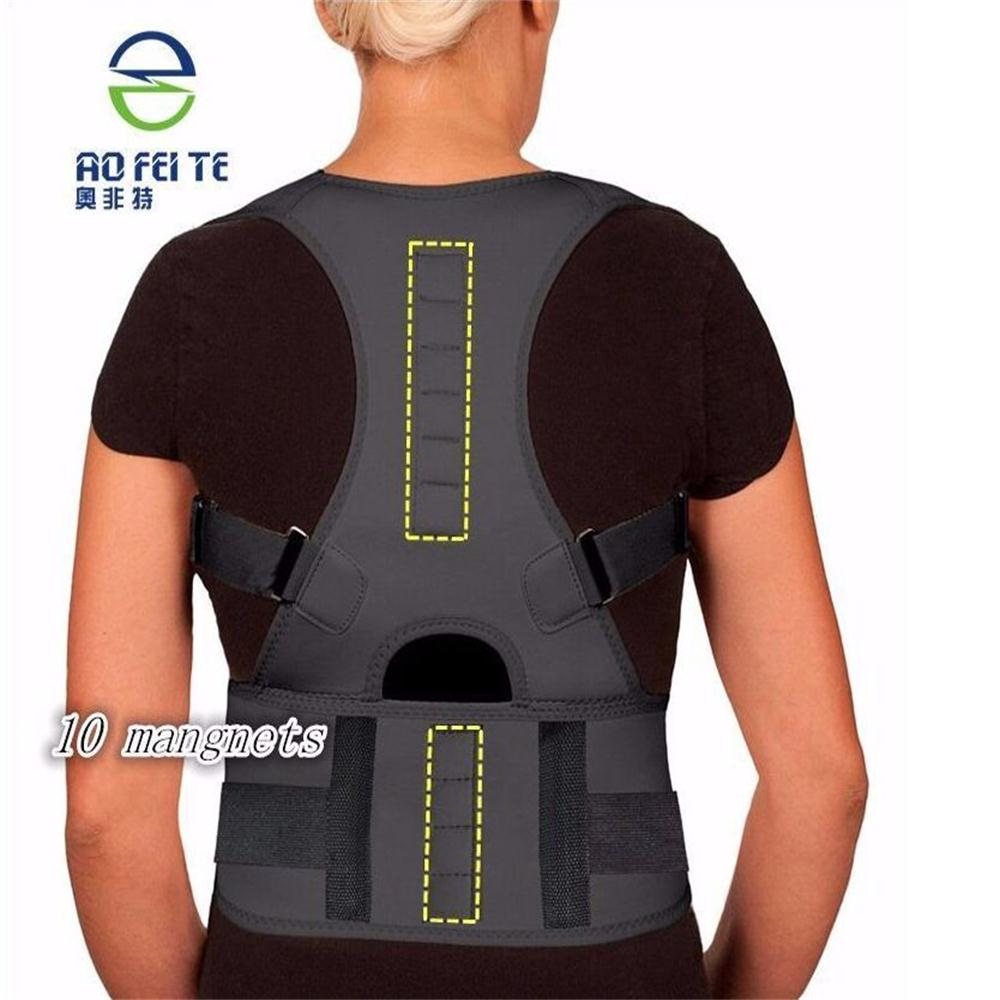 Shoulder Magnetic Therapy Support Adjustable Strap Posture Corrector Health Care Underwear Brace