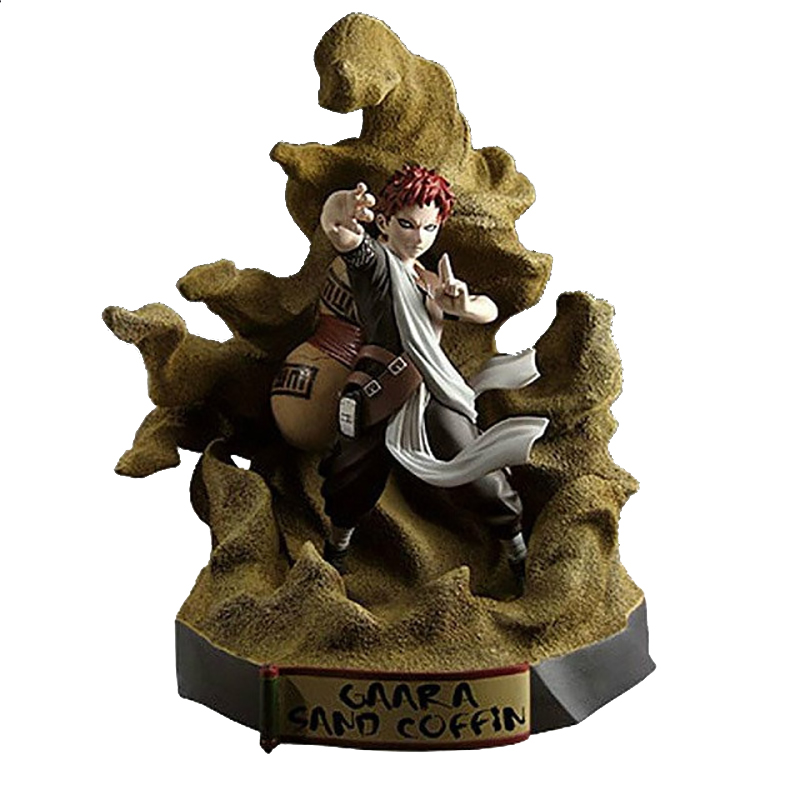 Naruto Gaara 1/8 Scale Painted Figure Sand Coffin Ver. Gaara Brinquedos PVC Action Figure Collectible Model Toy 21.5cm KT3364 new naruto shippuden orochimaru pvc action figure collectible model toy 13cm doll brinquedos juguetes hot sale freeshipping