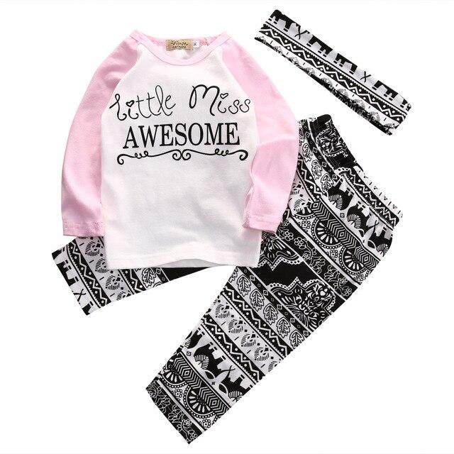 Pudcoco Enfant Filles Vêtements Set Automne À Manches Longues T-shirt  Graphique T-shirts d6ae2b247d3