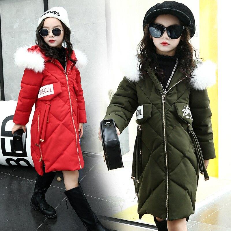 Child Jacket Girl Jackets Girls Winter Coat 2017 Joker Children Clothing Kids Hooded Coat Thicken Letter Cotton-padded Jacket цены онлайн