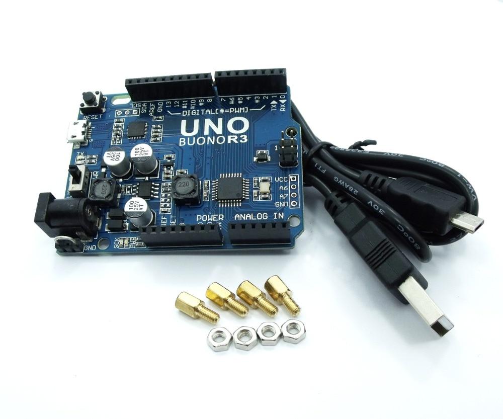 Compatível para Arduino Buono Melhorou 3.3 v – 5 Selecionável Micro Cabo Usb Atmega328p Uno r3