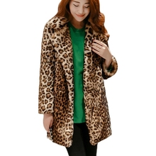 B woman jacket long section of the winter Faux fur coat fox pu leather female mink Leather grass women