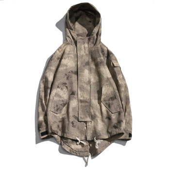 2019 Autumn new Japanese coat Men's Large size Loose Camouflage Hooded Personality tide jacket More size M-4XL 5XL