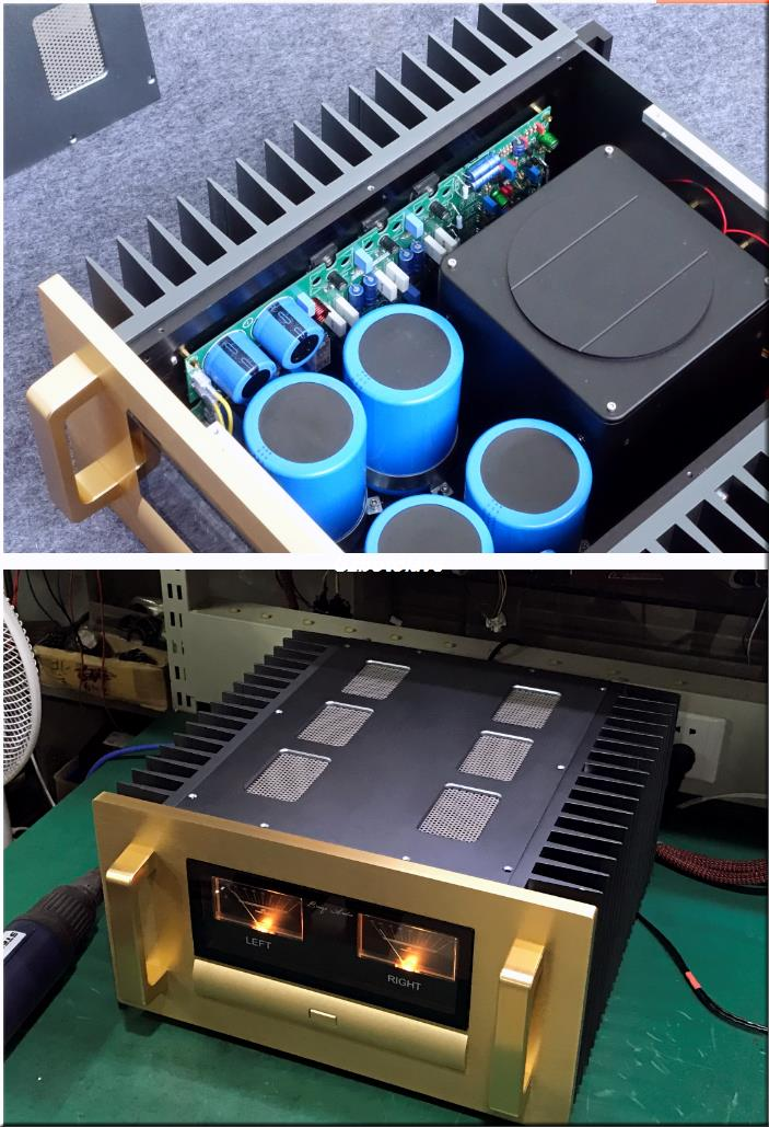 Super drive power finished A7 VU meter amplifier 400-Watt MOSFET Power Amplifier Stereo HiFi Amp REF E305 Circuit name machine b 108 circuit no big loop negative feedback pure post amplifier hifi fever grade high power 12 tubes