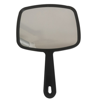 Hot Black Hair Dressing Paddle Cosmetic Mirror Salon Barbers Hairdressers Professional Handheld Salon Barbers Mirror 2020 image