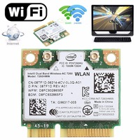 876M de doble banda 2 4 + 5G Bluetooth V4.0 Wifi Mini tarjeta pci-express inalámbrica para Intel 7260 AC DELL 7260HMW CN-08TF1D