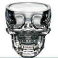 1pcs New Arrival Creative Lucid Skull Head Cool Wine Beer Juice Water Glass Cup Crystal Skeleton Glass  75ML Drop Shipping