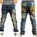Весна и Осень детские брюки, мальчика вскользь Джинсы, дети рваные джинсы + детские джинсы + мальчиков джинсы