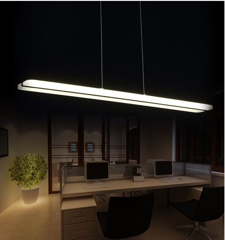 Newest Design LED Chandelier White Straight Lights Acrylic