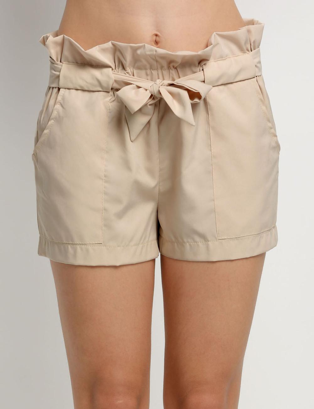 HTB1fwwzNFXXXXcfXVXXq6xXFXXXD - High Waist Shorts Loose Shorts With Belt Woman PTC 59