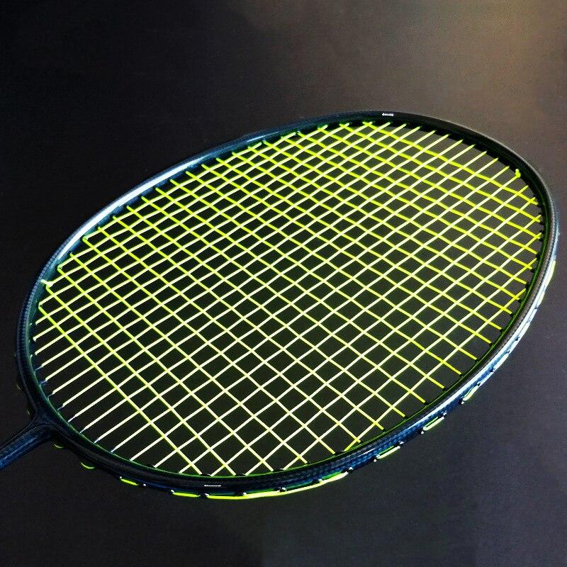 Carbon Fiber Woven 4U G5 Professional Ultralight Badminton Rackets Strung Strings Bag Racket 30LBS Racquet Speed Raket Sport