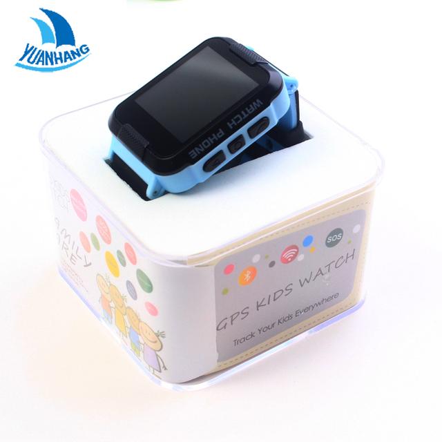 2017 Novo 1.44 'Tela Sensível Ao Toque Inteligente Seguro GPS LBS Rastreador Location Finder Chamada SOS Remoto Monitor de Relógio de Pulso para Crianças estudante