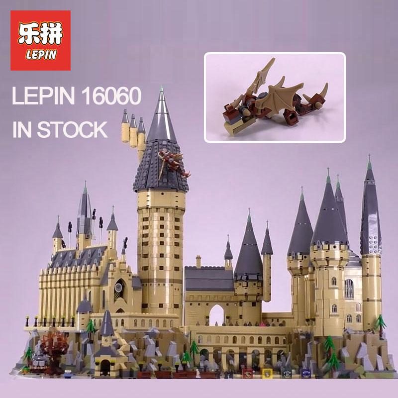 2018 Lepin 16060 Harry Magic Potter Hogwarts Castle Compatible Legoing 71043 Building Blocks Bricks Kids Educational Toys DIY цена