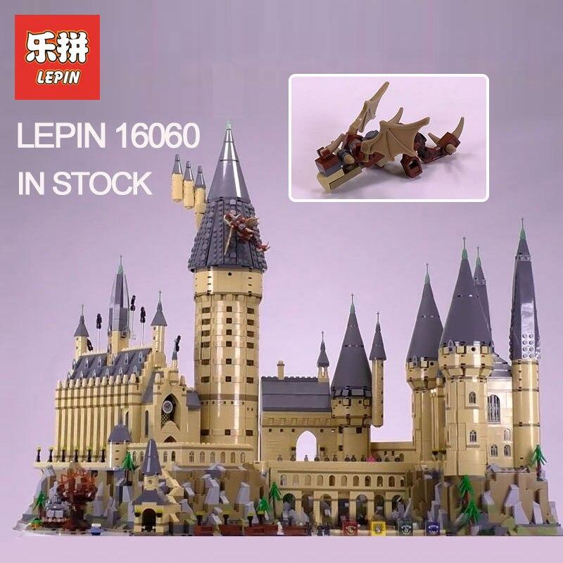 2018 Lepin 16060 mágica de Harry Potter Hogwarts Castillo Compatible Legoing 71043 bloques de construcción ladrillos niños DIY juguetes educativos