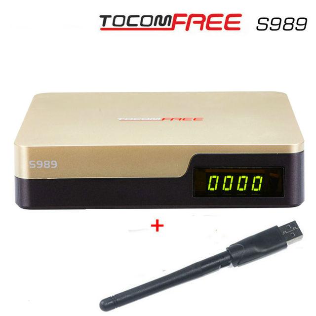 S989 GÊMEO Tuner DVB-S2 Full HD TOCOMFREE IKS + SKS + IPTV receptor de Satélite da américa do sul, melhor azamerica s1001, s929plus