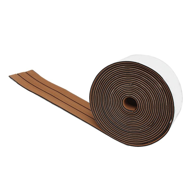 1 Roll 2400X17Cm Eva Foam Teak Deck Sheet Self Adhesive Boat Yacht Synthetic Decking Foam Floor Mat