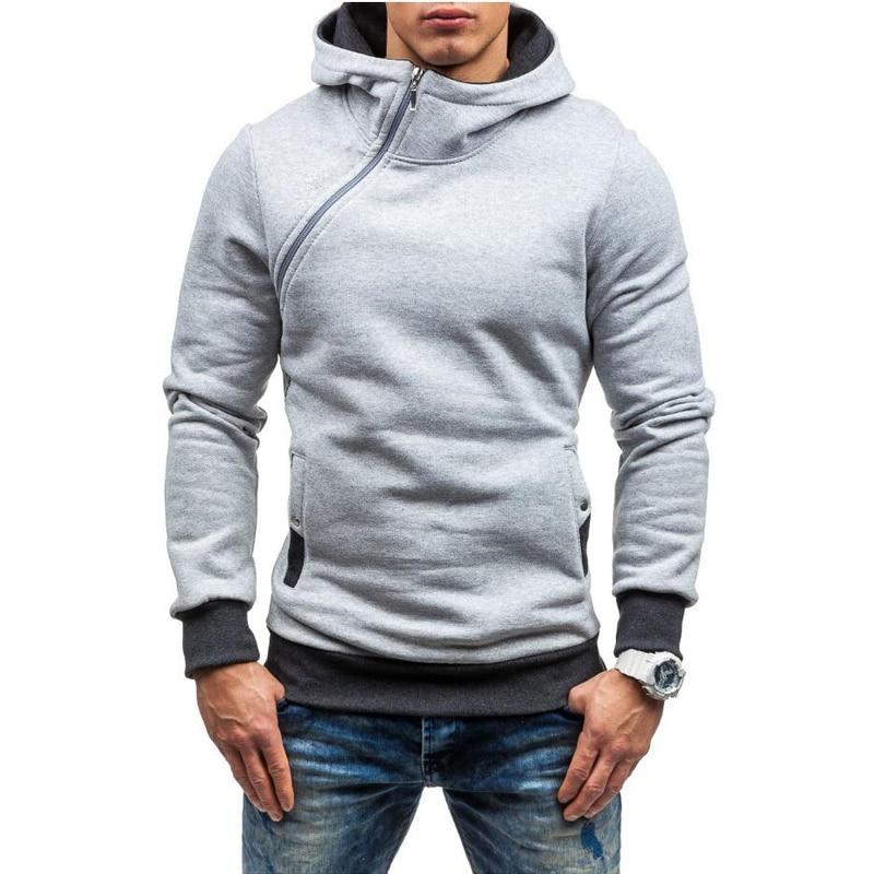 Men Hoodies Sweatshirt Spring Brand Solid Color Fleece Tracksuit Sudaderas Hombre Hip Hop Male Hooded Sportswear