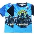 Star wars niños ropa niños traje de la historieta de la camiseta ropa de los muchachos garcon Rogue Uno niños ropa niños t shirt camisa de algodón 2017
