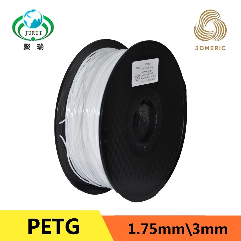 T vidrio PETG 3D filamentos de la impresora 1.75mm 1 kg plástico caucho consumibles material de makerbot/reprap/Up /mendel