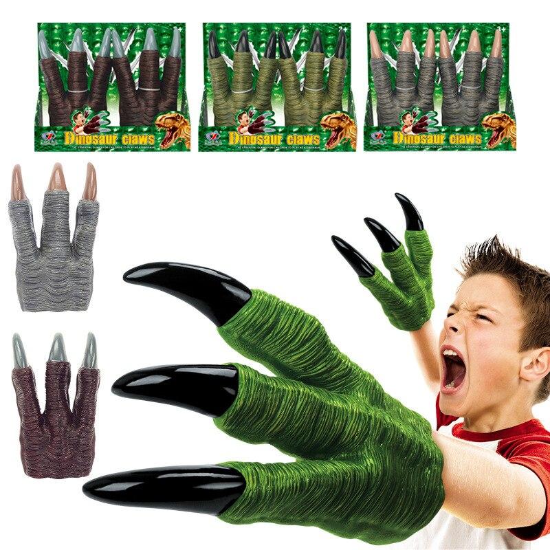 Dinosaurier Klaue Handschuhe Spielzeug Hände Halloween Party Cosplay Kinder